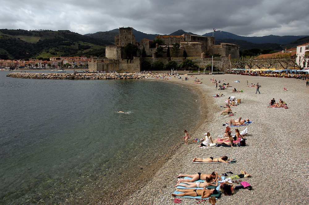 Beach at Collioure, France