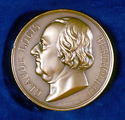 Claude Louis Berthollet (1748-1822) French chemist. Portrait from obverse of commemorative medal.
