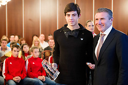 Anej Zupanc with Sergey Bubka during the Slovenia's Athlete of the year award ceremony by Slovenian Athletics Federation AZS on November 8, 2013 in Grand Hotel Toplice, Bled, Slovenia. Photo by Vid Ponikvar / Sportida