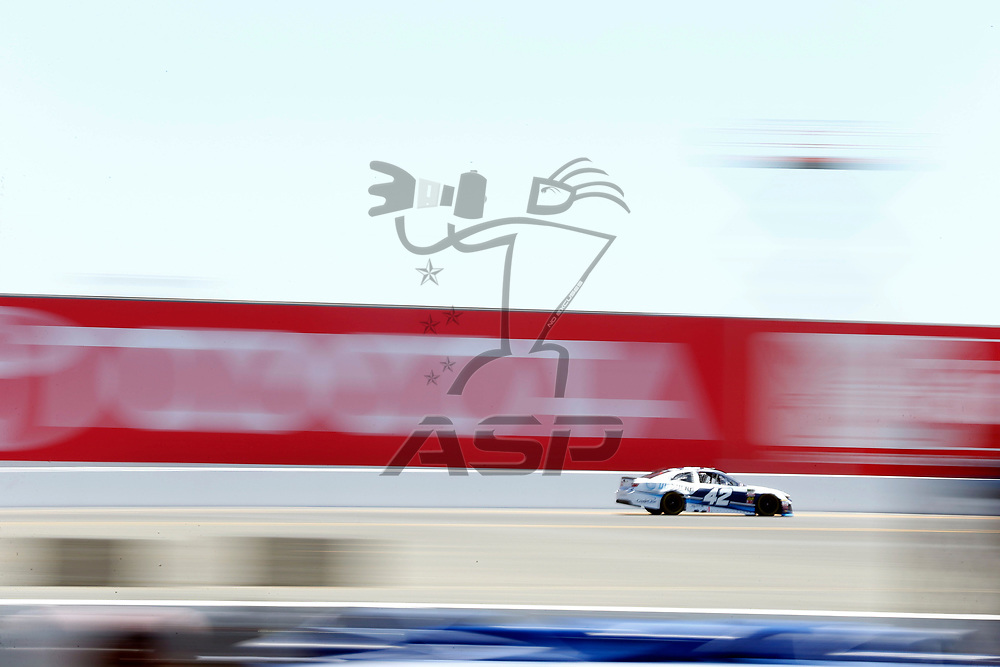 June 23, 2018 - Sonoma, California , USA: Kyle Larson (42) gets ready to qualify for the TOYOTA/SAVE MART 350 at Sonoma Raceway in Sonoma, California .