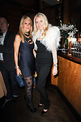 Left to right, Myla's Creative Director CYNTHIA GABAY and NOELLE RENO at a party to celebrate the 10th anniversary of the Myla lingerie brand held at Almada, 17 Berkeley Street, London on 17th November 2010.
