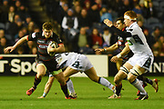 James Johnstone on the ball during the Guinness Pro 14 2017_18 match between Edinburgh Rugby and Glasgow Warriors at Murrayfield, Edinburgh, Scotland on 23 December 2017. Photo by Kevin Murray.