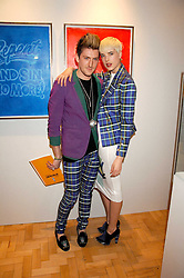 Model AGYNESS DEYNE and designer HENRY HOLLAND at the TOD's Art Plus Film Party 2008 hosted by The Whitechapel Art Gallery at a former church at 1 Marylebone Road, London NW1 on 6th March 2008.<br />