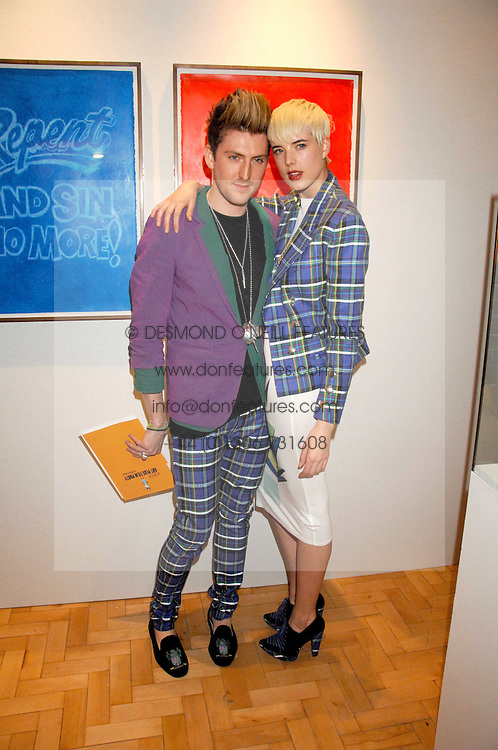 Model AGYNESS DEYNE and designer HENRY HOLLAND at the TOD's Art Plus Film Party 2008 hosted by The Whitechapel Art Gallery at a former church at 1 Marylebone Road, London NW1 on 6th March 2008.<br /><br />NON EXCLUSIVE - WORLD RIGHTS