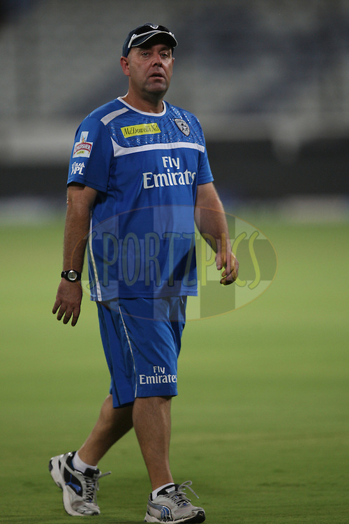 Darren Lehman during the practice session of the Deccan Chargers held at the Rajiv Gandhi International Stadium in Hyderabad, Andhra Pradesh, India on 17 May 2012...Photo by Jacques Rossouw/BCCI/SPORTZPICS .
