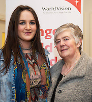 World Vision Ireland  held an exclusive screening of the critically acclaimed feature length movie Girl Rising in An Taibhdhearc, Middle Street, Galway. <br /> At the event were Mairead and Peggy Kelly from Castlebar Co. Mayo.<br /> Girl Rising is a critically and internationally acclaimed feature film - narrated by Meryl Streep, Liam Neeson, Anne Hathaway and others - about the strength of the human spirit and the power of education.<br /> <br /> Photo:Andrew Downes