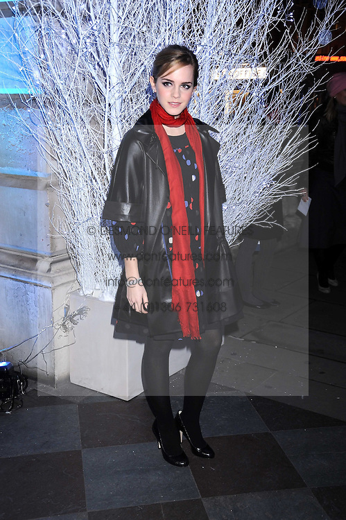 Actress EMMA WATSON at the opening of the Somerset House ice Rink for 2008 sponsored by Tiffany & Co held at Somerset House, The Strand, London on 18th November 2008.