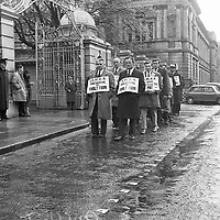 Dairy farmers (ICMSA) picket on Dáil, 11 May 1966.<br /> (Part of the Independent Newspapers Ireland/ NLI Collection)