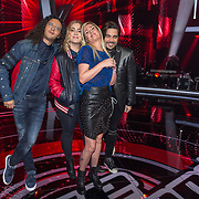 NLD/Hilversum/20180126 - The Voice of Holland 2017 show 1, Coaches Ali B, Anouk, Sanne Hansen, Waylon