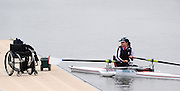 Caversham, GREAT BRITAIN,   GB, Women's,  Helene RAYNSFORD, GBR AW1X,, GB Rowing,  Adaptive Rowing Media Day [athletes training for the Beijing Paralympics] [Mandatory Credit, Peter Spurrier / Intersport-images Rowing course: GB Rowing Training Complex, Redgrave Pinsent Lake, Caversham, Reading