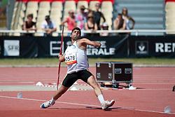 MIRSHEKARI Abdolrasoul, IRI, Javelin, F46, 2013 IPC Athletics World Championships, Lyon, France