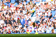 Manchester City Women defender Steph Houghton (6) during the FA Women's Super League match between Manchester City Women and Manchester United Women at the Sport City Academy Stadium, Manchester, United Kingdom on 7 September 2019.