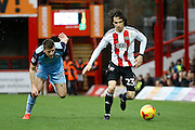 Brentford midfielder Jota (23) during the EFL Sky Bet Championship match between Brentford and Rotherham United at Griffin Park, London, England on 25 February 2017. Photo by Andy Walter.