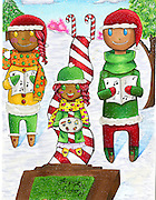 Holiday card designed by Kate Kollar of Reagan High School.