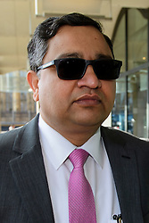 ©  London News Pictures. 28/04/2016. London, UK. BIMLENDRA JHA, CEO of TATA Steel arrives at Portcullis House in London to give evidence to the Commons Business Committee on the future of British steel. TATA Steel. The future of Tata Steel has been in doubt since it announced it would sell its loss-making UK business. Photo credit: Ben Cawthra/LNP