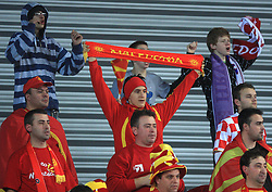 Fans of Macedonia during 21st Men's World Handball Championship preliminary Group C match between FYR Macedonia and Germany, on January 21, 2009, in Arena Varazdin, Varazdin, Croatia. (Photo by Vid Ponikvar / Sportida)