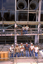 Stock photo of one of the work crews posing during new construction at the George R. Brown Convention Center in Houston, Texas