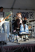 The Quaking River Band in concert at the 4th Avenue Street Fair in Tucson, Arizona.
