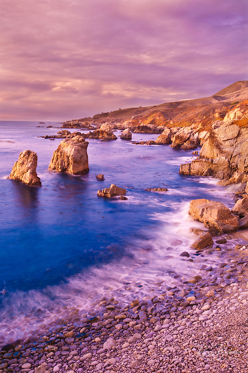 Sea stacks at Soberanes Point, Garrapata State Park, Big Sur, California USA