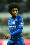 Willian (#10) of Chelsea during the Premier League match between Newcastle United and Chelsea at St. James's Park, Newcastle, England on 18 January 2020.