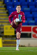 Returning from injury and on the bench Jamie Walker (#10) of Heart of Midlothian FC warms up before the Ladbrokes Scottish Premiership match between St Johnstone FC and Heart of Midlothian FC at McDiarmid Park, Perth, Scotland on 30 October 2019.