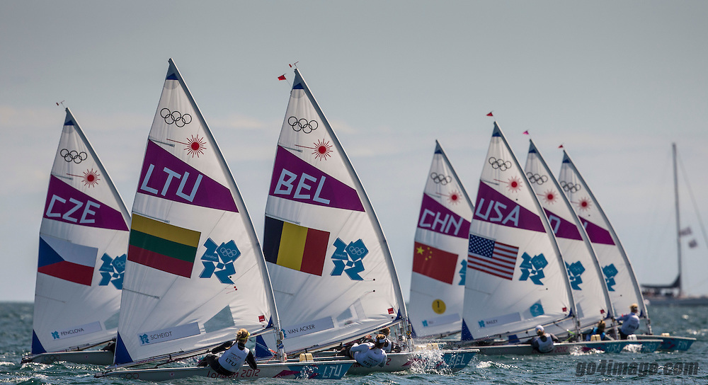 Laser Radial Start<br /> <br /> 2012 Olympic Games <br /> London / Weymouth