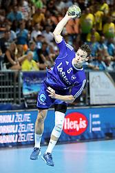 Jaka Malus of Celje during handball match between RK Celje Pivovarna Lasko and RD Koper 2013 of Super Cup 2016, on August 27, 2016 in SRC Marina, Portoroz / Portorose, Slovenia. Photo by Matic Klansek Velej / Sportida