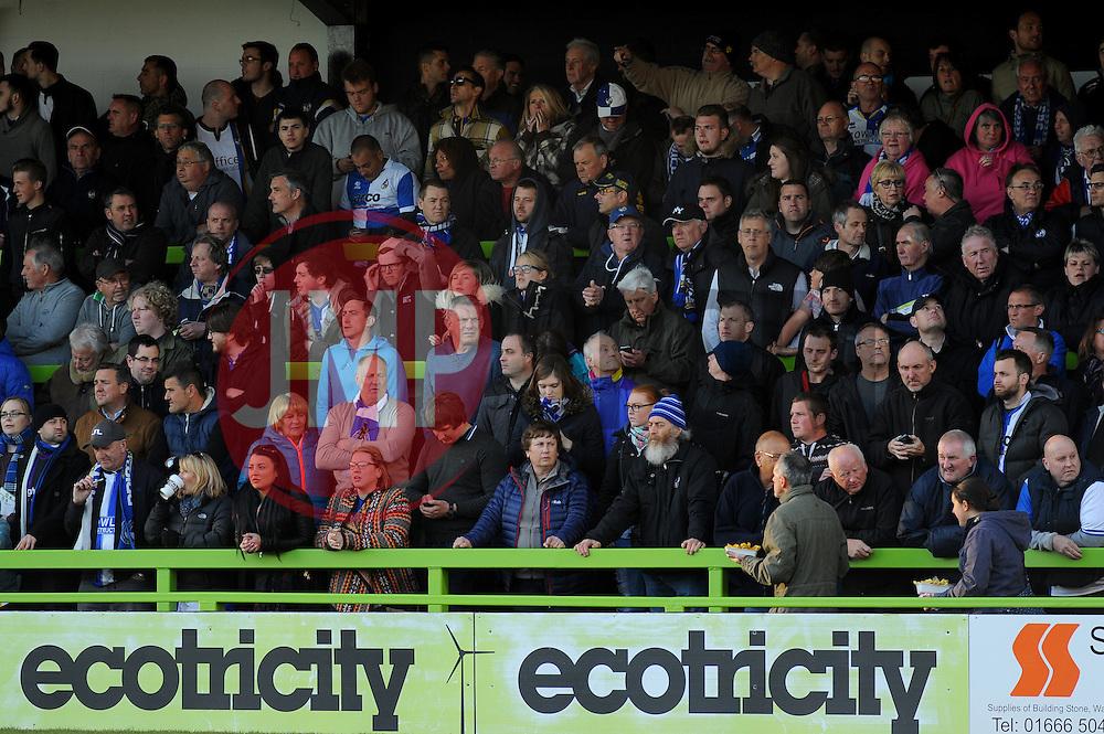 Bristol Rovers fans - Photo mandatory by-line: Nizaam Jones/JMP - Mobile: 07966 386802 - 29/04/2015 - SPORT - Football - Nailsworth - The New Lawn - Forest Green Rovers v Bristol Rovers - Vanarama Football Conference