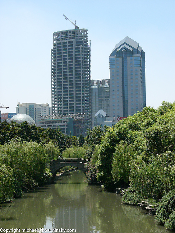 New high rise buildings along old sung water way