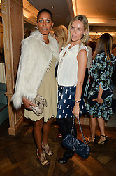 Left to right, SHERETT DAHLSTROM and NADJA ABELA at the 3rd annual Gynaecological Cancer Fund Ladies Lunch at Fortnum & Mason, 181 Piccadilly, London on 29th September 2016.