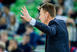 Gasper Okorn, head coach of Petrol Olimpija during basketball match between KK Petrol Olimpija and KK Ilirija in 1st Round of Nova KBM Basketball League 2017/18, on December 29, 2017 in Arena Stozice, Ljubljana, Slovenia. Photo by Ziga Zupan / Sportida