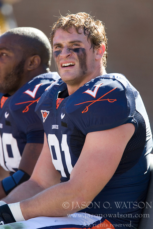 Virginia defensive end Chris Long (91)..The #23 Virginia Cavaliers defeated the #24 Wake Forest Demon Deacons 17-16 at Scott Stadium in Charlottesville, VA on November 3, 2007.