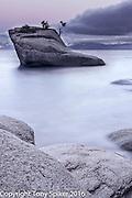 """Bonsai Rock Sunrise 1"" - Sunrise over Lake Tahoe from Bonsai Rock"