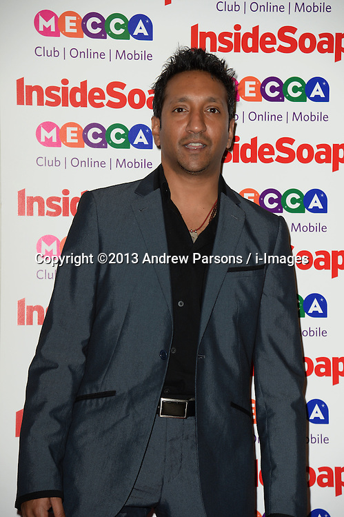 Inside Soap Awards.<br /> Paul Sharma arrives for the Inside Soap Awards, Ministry of Sound, London, United Kingdom,<br /> Monday, 21st October 2013. Picture by Andrew Parsons / i-Images
