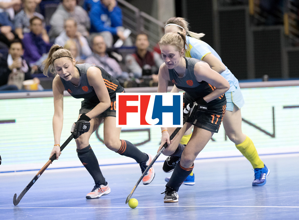 BERLIN - Indoor Hockey World Cup<br /> SF1 Netherlands - Ukraine<br /> foto: Elin van Erk <br /> WORLDSPORTPICS COPYRIGHT FRANK UIJLENBROEK