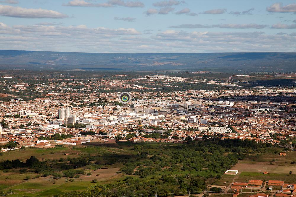 Juazeiro do Norte eh um municipio brasileiro do estado do Ceara. Gracas a figura de Padre Cicero, eh considerado um dos maiores centros de religiosidade popular da America Latina, atraindo milhoes de romeiros todos os anos. Vista do Mirante do Horto. / Juazeiro do Norte is a city in the state of Ceara state in northeastern Brazil. It is located 528 km south of the state capital Fortaleza in the arid sertao. The municipality has a population of 246.515 (2008 official estimate) and covers 248 km².  Juazeiro do Norte is best-known as the base of the charismatic priest and politician Padre Cicero  (1844-1934). A pilgrimage in his honour takes place every November, attracting thousands of followers.
