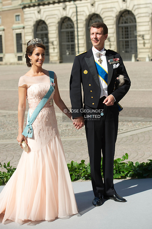 Princess Marie of Denmark and Prince Joachim of Denmarkattend the wedding of Princess Madeleine of Sweden and Christopher O'Neill hosted by King Carl Gustaf XIV and Queen Silvia at The Royal Palace on June 8, 2013 in Stockholm, Sweden.