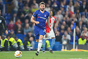 Chelsea forward Olivier Giroud (18) during the Europa League  quarter-final, leg 2 of 2 match between Chelsea and Slavia Prague at Stamford Bridge, London, England on 18 April 2019.