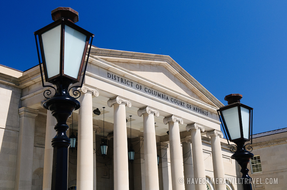 District of Columbia Court of Appeals building in downtown Washington DC.