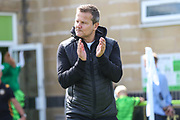 Forest Green Rovers manager, Mark Cooper during the EFL Sky Bet League 2 match between Forest Green Rovers and Newport County at the New Lawn, Forest Green, United Kingdom on 31 August 2019.