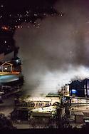 Potenza. Basilicata, Italia, 12/12/2013<br /> Lo stabilimento siderurgico Siderpotenza del Gruppo Pittini, a Potenza. Secondo i dati rilevati dall'Agenzia Regionale per l'Ambiente della Basilicata nel 2013, livelli di diossina trovati nell'aria sarebbero uguali a quelli trovati nell'area circostante lo stabilimento Ilva di Taranto, , tra il 2008 e il 2009.<br /> <br /> Potenza, Basilicata, Italy, 12/12/2013<br /> The Siderpotenza steel plant of Pittini Group, in Potenza. According to data collected by the Regional Agency for the Environment of Basilicata in 2013, levels of dioxin found in the air would be equal to those found in the area surrounding the Ilva steel plant in Taranto, between 2008 and 2009