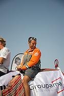 franck Cammas skipper of groupama yacht.volvo ocean race abu dhabi january 2012