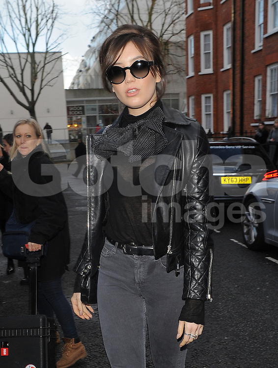 Daisy Lowe attends London Fashion Week AW14 in London, UK. 15/02/2014<br />