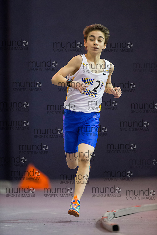 Andre Lanoue of Windsor Legion competes at the STL-LW All Comers Meet # 2 in London, Ontario, Saturday, January 24, 2015.<br /> Mundo Sport Images/ Geoff Robins