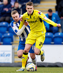 COLCHESTER, ENGLAND - Saturday, February 23, 2013: Tranmere Rovers' Paul Corry in action against Colchester United's Freddie Sears during the Football League One match at the Colchester Community Stadium. (Pic by Vegard Grott/Propaganda)