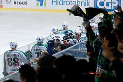 Team HDD Tilia Olimpija celebrate goal during ice-hockey match between HDD Tilia Olimpija and EHC Liwest Black Wings Linz in 37th Round of EBEL league, on Januar 9, 2011 at Hala Tivoli, Ljubljana, Slovenia. (Photo By Matic Klansek Velej / Sportida.com)