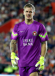 Johan Dahlin of FC Midtjylland - Mandatory byline: Paul Terry/JMP - 07966386802 - 20/08/2015 - FOOTBALL - ST Marys Stadium -Southampton,England - Southampton v FC Midtjylland - EUROPA League Play-Off Round