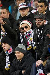 Paris Ultras support their team. Toulouse v Paris St Germain, Ligue 1, Stade Municipal, Toulouse, France, 1st Feb 2013..Credit - Eoin Mundow/Cleva Media, www.clevamedia.com