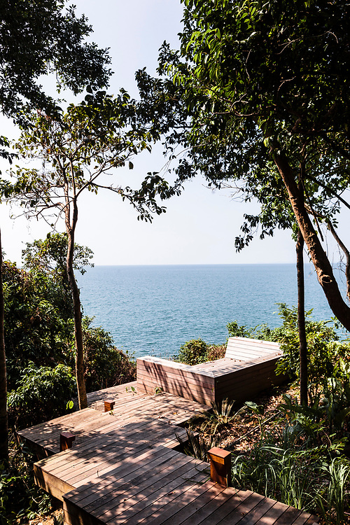 Seating area with view to the sea