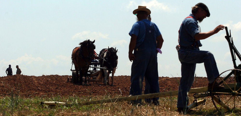 "Scores of draft horses and 19th century farming equipment are on display at a farm in western Howard County to commemorate the ""old way"" of farming as well as highlight the farmers that still work this way."